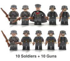 WW2 10 Minifigure - LEGO Compatible WW2 Soldiers Troops German Russian