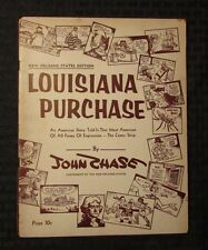 1955 New Orleans State Ed. LOUISIANA PURCHASE John Chase Comic Strip G/VG  1st