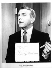 George Burns Autograph The Sunshine Boys Gracie Allen A Damsel in Distress Road