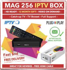 ☆ Genuine Infomir IPTV MAG 256 Box + USB WiFI + 12 Month Premium Warranty ☆