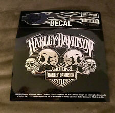 New/Authentic-Harley-Davidson Mens Skull Text + Small Bar&Shield Decal -DC169062