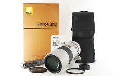 """Nikon AF-S NIKKOR 300mm f/4 D ED Light Gray Lens """"Excellent+++ w/Box"""" From Japan"""