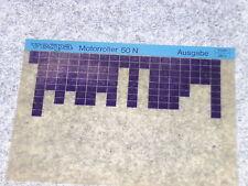 Microfich Katalog Ersatzteilliste Piaggio Vespa 50 N spezial V5A1T V5B3T 1981