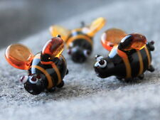 ampwork Glass Bumble Bee Beads, Handmade Glass Lampwork Bee Beads, Insect Beads