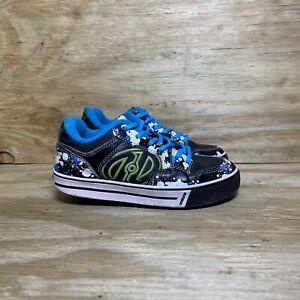 Heelys Ninja Grip Skate Shoes, Youth Size 1, Black/Blue