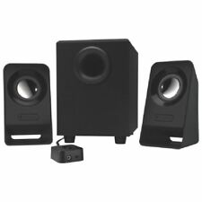 Logitech Z213 2 1 Speakers - 7 W RMS - 65 Hz - 20 kHz - with Subwoofer - Black