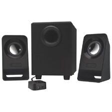 Logitech Z213 2 1 Speakers - 7 W RMS - 65 Hz - 20 kHz - with Subwoofer - Black