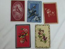 5 Single Swap Playing Cards Birds 26261 Bird Chicadee Crow Robin