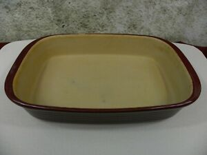 """Pampered Chef Cranberry Family Heritage Stoneware 9X13X2"""" Baker Casserole Dish"""