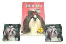 Adorable Shih Tzu Dog Lovers Hardcover Book and 2 Foam Coasters Collectibles