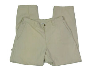 Columbia Outdoor Pants Men's Size 34 x 32 Tan Side Pockets Hiking