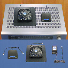 Receiver/Amp Superbase cooling fan w/Adjustable Thermostat & multi-speed control