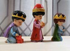 Christmas Nativity Moppets Franmar We Three Kings Figurines Vintage 1976