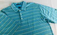 Nike Mens Tiger Woods Collection Striped Golf Polo Shirt Size XL