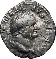 VESPASIAN 75AD Ancient Silver Denarius Roman Coin PAX Peace Goddess Cult  i33566