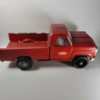 Vintage Old Pressed Steel Tonka Toys Red Pickup Bed Truck Cab Square Body USA