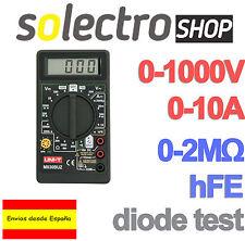 Amperimetro Digital Voltimetro Multimetro Tester Polimetro Medidor Corriente H41