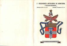 """BIGLIETTO D'AUGURI 1° REGGIMENTO ARTIGLIERIA DA MONTAGNA """"TAURINENSE""""   C4-536"""