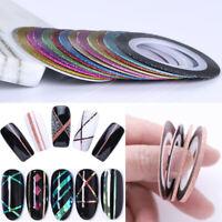 Nail Striping Tape Matte Glitter Adhesive Stickers 1-3mm Nail Art Decoration DIY