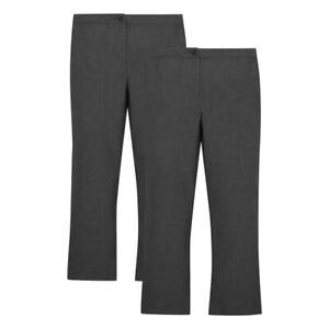 BNWT Debenhams Noir School Pantalon Âge 12 ans réglable à la taille