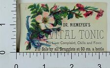 Victorian Trade Card Dr. Niemeyer's Vital Tonic Floral Image F67