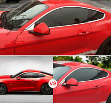 8*Accessories Car Window Sill Guard Cover Trim Fit For Ford Mustang 2015-2017