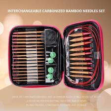 Interchangeable Carbonized Bamboo Needles Set Aluminum Circular Knitting Needles