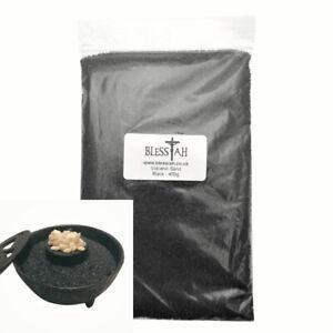 BLESSIAH Pure Black Volcanic Sand for Incense Resin Bowl Burner 400g