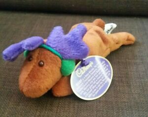 Vintage year 2000 Cadbury's Milky Moose Beanie Plush Toy. Collectible. With Tags
