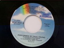 "PAUL YOUNG ""WHAT BECOMES OF THE BROKEN HEARTED / GHOST TRAIN"" 45 MINT"