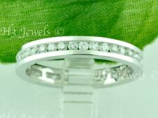 14k Solid  White Gold Natural Diamond Eternity band ring 1.00 ct VS Channel set