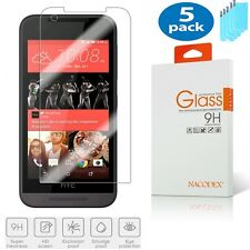 5x Nacodex For HTC Desire 520 [ Tempered Glass ] Screen Protector HD