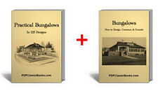 Bungalow House Design Floor Plans 2 Vintage Books on CD