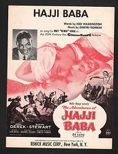 Hajji Baba 1954 Nat King Cole Sheet Music Sheet Music