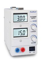 PeakTech 6080 Digital Labornetzgerät/Laboratory Power Supply, 0-15 V/0 - 3 A DC