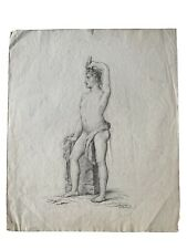 Academic Drawing, nude male, late 19th century