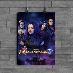 Descendants 3 Movie Poster Glossy 240gsm Size A1 A2 A3 A4 Framed& Unframed