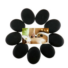 9 pcs Lots Massage Hot Stones Massages Lava Natural Stone Set Hot Spa Rocks