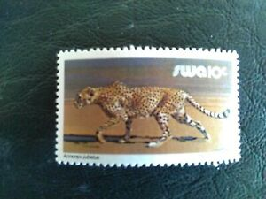 MNH STAMP OF SOUTH WEST AFRICA 1980 WILDLIFE LEOPARD 10 CENT MULTICOLOURED.