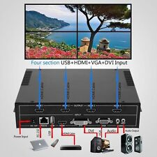 4-Channel HDMI VGA DVI USB Video Processor 2x2 TV Projector Video WallController