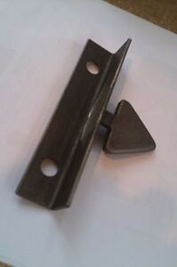 gate catch door latch for metal iron gates reversible grey metal finish