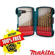 Makita P-51873 16 Pc Straight Shank Titanium Plated HSS Drill Set + Free Tape 8M
