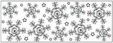 Fiskars Snowflakes 6cm Silicone Template Continuous Stamp Wheel Card Making