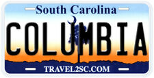 Columbia South Carolina Aluminum Novelty Car License Plate