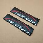 2x Metal Car Emblem Black Limited Edition Badge Side Fender Trunk Sticker Decal
