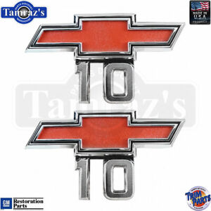 "67-68 Chevrolet C10/K10 Pickup Truck Bowtie "" 10 "" Fender Emblem PR Trim Parts"