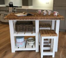 NEW ~ RUSTIC FARMHOUSE KITCHEN ISLAND / TABLE AND 2 X STOOLS ~ MADE TO MEASURE ~