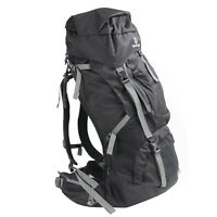 Tahoe Gear Fairbanks 75L Premium Internal Frame Hiking Backpack - Black