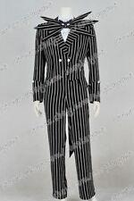 The Nightmare Before Christmas Cosplay Jack Skellington Stripe Costume Uniform