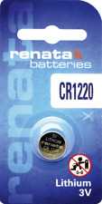 10 x Renata CR1220 Watch Batteries, 3V Lithium, 1220